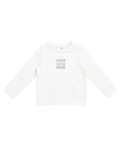 Cremeweißes Sweatshirt
